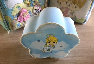 "Vintage Precious Moments Baby Nursery Lamp Angel Cloud 10"" x 5"""