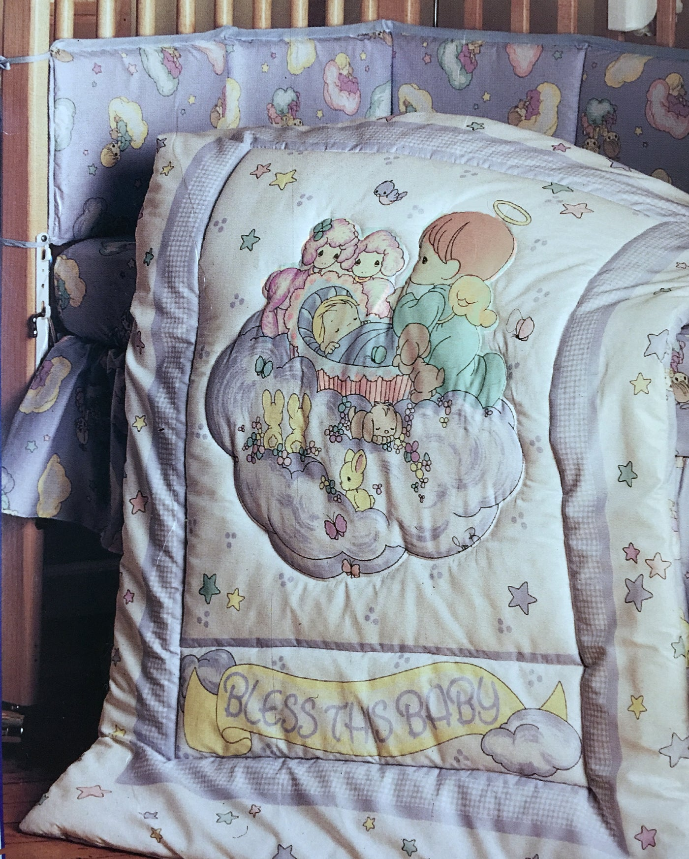 Vintage Precious Moments Angels Bless This Baby 4pc Nursery Collection Kidsroomtreasures Com
