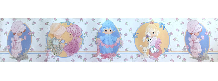 Vintage Precious Moments Girls Playtime Peel & Stick Wall Border