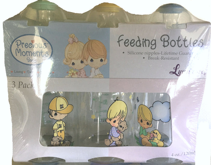 Precious Moments Feeding Baby Bottles 4oz - 3-Pack