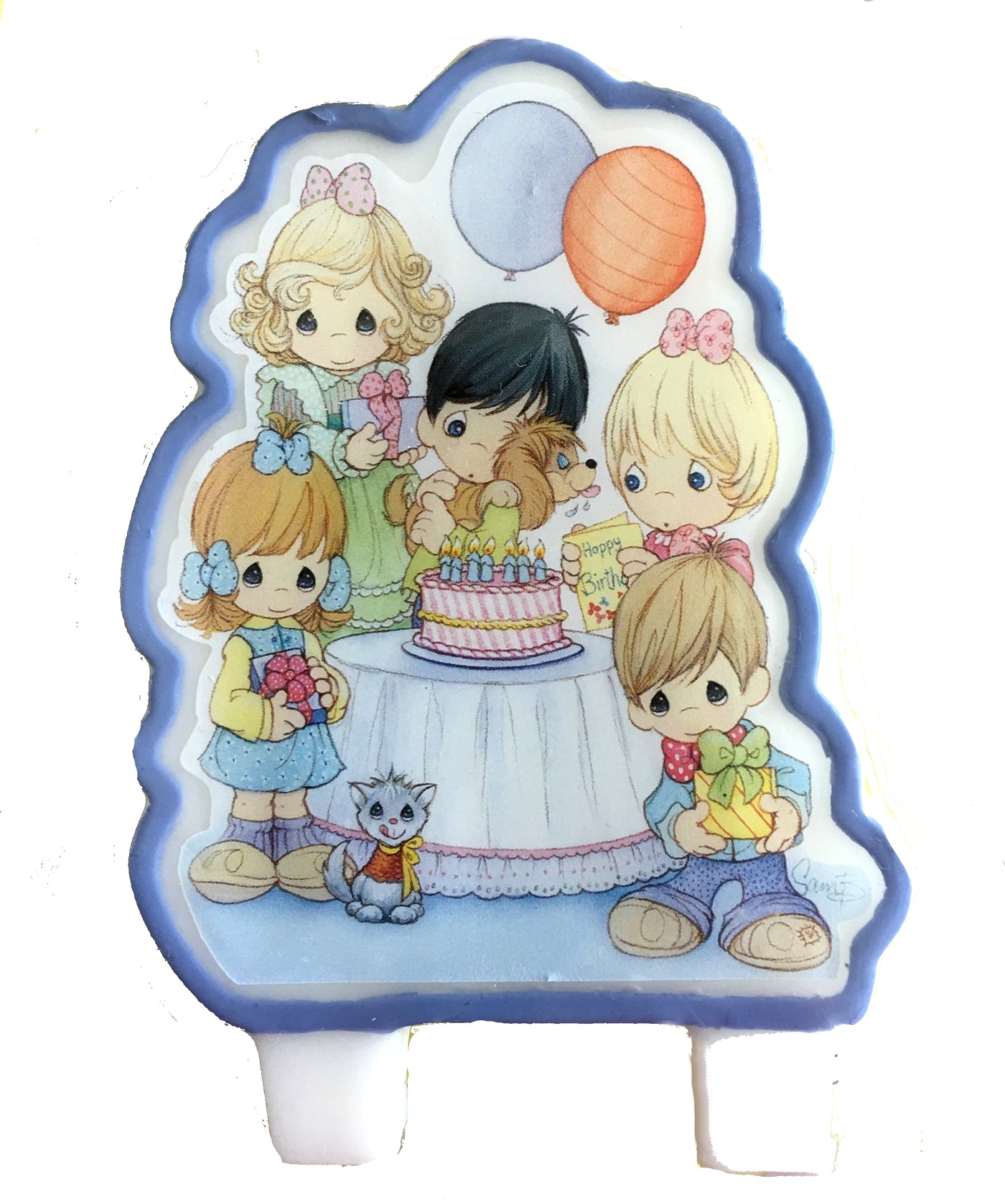 Precious Moments Birthday Molded Party Candle Cake Topper 3 1/2