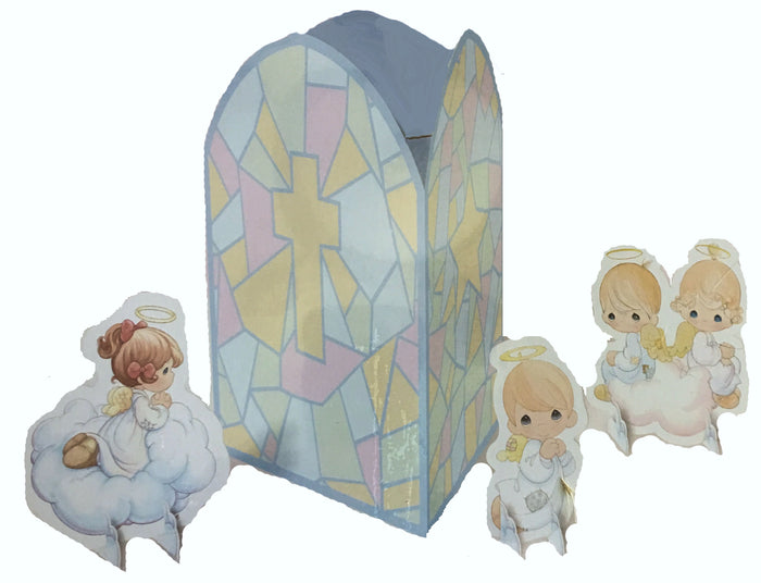 Precious Moments Angels Baby Shower Baptism Christening Paper Table Centerpiece