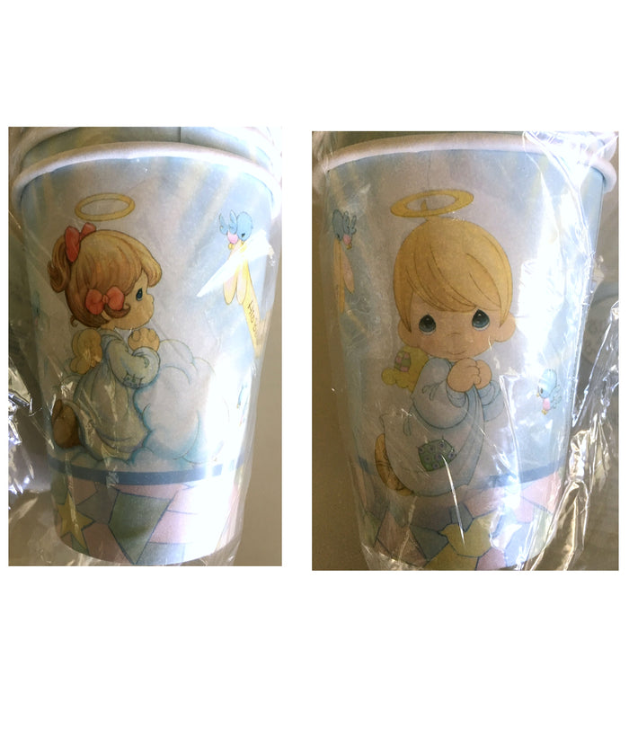 Precious Moments Angels Baby Shower Baptism Christening Party Paper Cups 8 CT