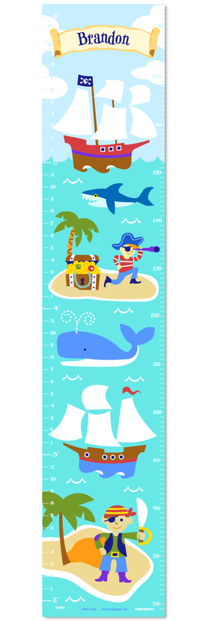 Pirates Self-Adhesive Growth Chart