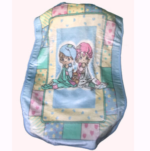 "Vintage Precious Moments Baby Blanket Luxury Plush Throw 30"" x 45"" Sweet Dreams Boy Girl"