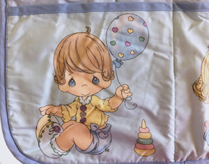 "Precious Moments Baby Boy & Girl Fabric Nursery Crib Organizer 9-Pocket 18"" x 20"""