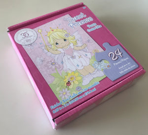 "Precious Moments Puzzle Sweet Princess Butterfly Fairy 24 Pieces 8.25"" x 11"" 35th Anniversary"