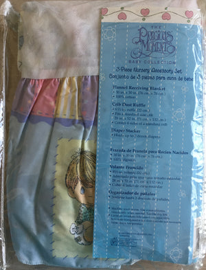 Accessory Set - Diaper Stacker, Crib Skirt, Receiving Blanket