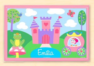 "Princess Castle & Carriage Personalized Placemat 18"" x 12"" with Alphabet"