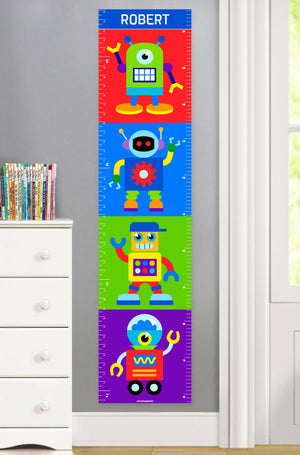Robots Personalized Canvas Growth Chart