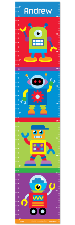 Robots Self-Adhesive Growth Chart