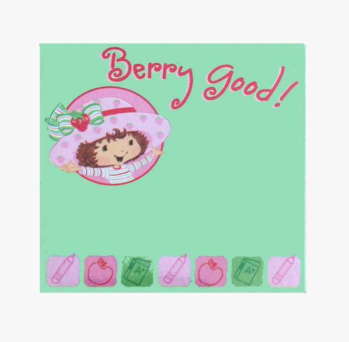 Strawberry Shortcake Berry Good! Green Mini Sticky Note Pad 3""