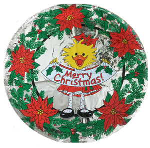 "Suzy's Zoo Suzy's Merry Christmas Banner & Poinsettias 18"" Party Balloon"