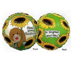 "Suzy's Zoo Ollie's Sunflowers Friendship or Get Well 18"" Party Balloon"