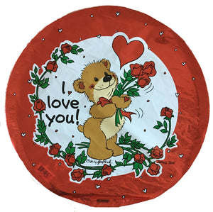 "Suzy's Zoo Willie Bear I Love You!Valentine 18"" Party Balloon"