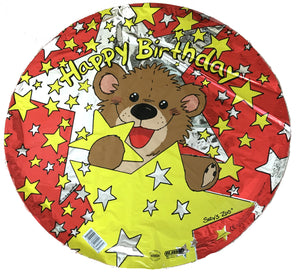 "Suzy's Zoo Willie Bear Star Happy Birthday 18"" Party Balloon"