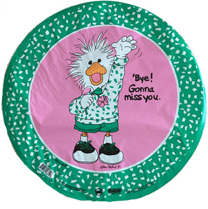 "Suzy's Zoo White Duck Bye Gonna Miss You Farewell 18"" Balloon"