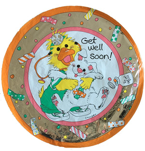 "Suzy's Zoo Duck & Bunny Get Well 18"" Party Balloon"