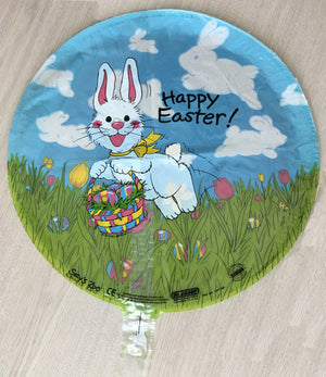 "Suzy's Zoo Bunny & Clouds Happy Easter 18"" Party Balloon"