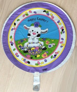 "Suzy's Zoo Lamb & Easter Basket Happy Easter 18"" Party Balloon"