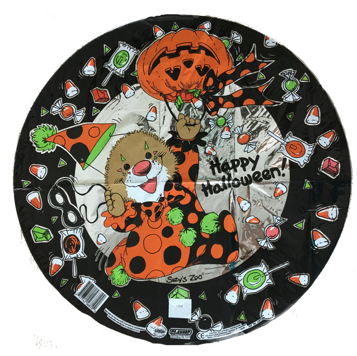 "Suzy's Zoo Ollie Pumpkin Clown Happy Halloween 18"" Party Balloon"
