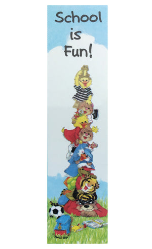"Suzy's Zoo School Is Fun Vertical Banner 12"" x 45"""