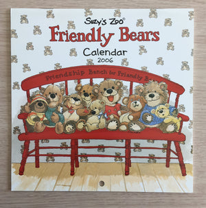 Collector's Suzy's Zoo 2006 Mini Wall Calendar Friendly Bears