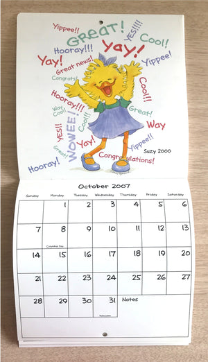 Collector's Suzy's Zoo 2007 Mini Wall Calendar Suzy Ducken Through the Years