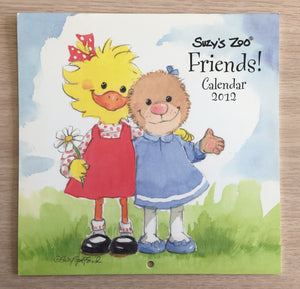 Collector's Suzy's Zoo 2012 Mini Wall Calendar Friends!