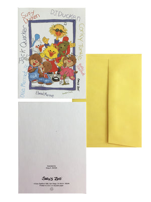 Vintage Suzy's Zoo Gang Memo Note Cards - 2 CT