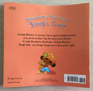 Strawberry Shortcake Sleeps Over Paperback Book with Jewel Stickers