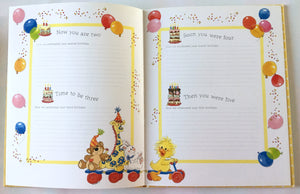 Little Suzy's Zoo Baby's Memory Book The First Tender Years - Duck Bear Bunny Giraffe Elephant