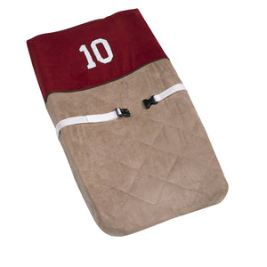 All Star Sport Brown Microsuede Baby Changing Pad Cover