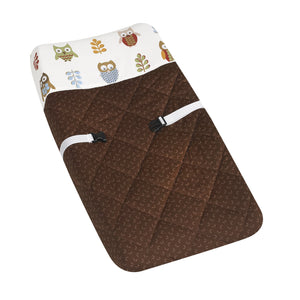 Owl Print Brown Changing Pad Cover