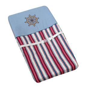 Red White Blue Striped Nautical Baby Changing Pad Cover