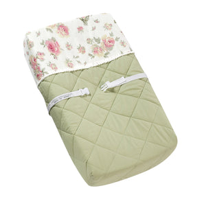 Floral Rose Print Changing Pad Cover