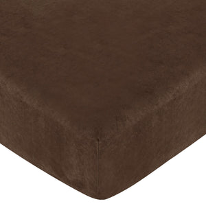 Chocolate Brown Microsuede Fitted Crib Sheet