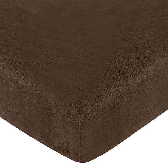 Microsuede Brown Fitted Crib Sheet or Toddler Sheet
