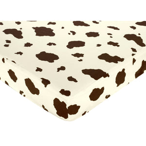 Cow Print Fitted Crib Sheet