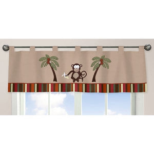 Monkey Microsuede Window Curtains