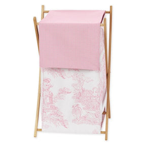 Pink Toile Clothes Laundry Hamper