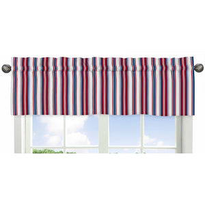 Red White Blue Nautical Striped Window Valance