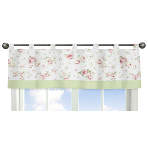 Riley's Roses Tab Top Valance 84""