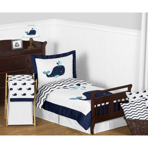 Whale Toddler Bedding