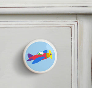 Airplane Ceramic Drawer Knob