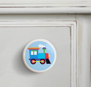 Train Ceramic Drawer Knob