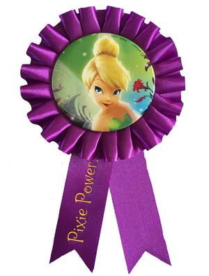 "Tinkerbell Award Guest-of-Honor Ribbon 3.5"" with Pin - Party Favor"
