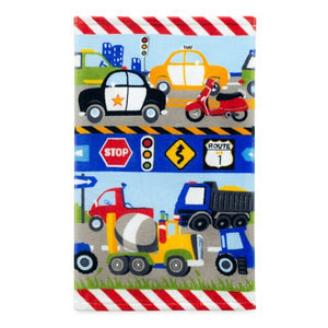Transportation Trucks Bath Towel