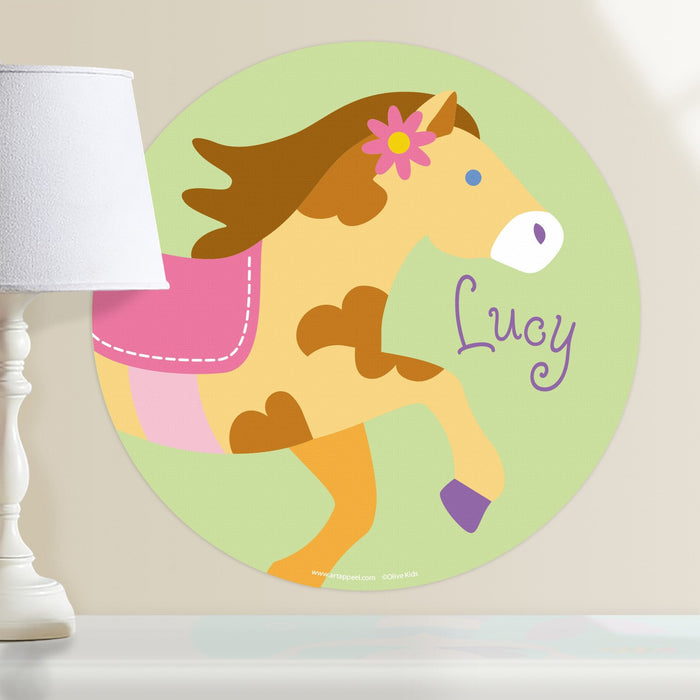 "Pony Horse Wall Decal 12"" Peel & Stick Personalized Sticker"