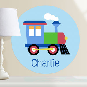 "Train Wall Decal 12"" Peel & Stick Personalized Sticker"